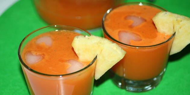 ananas juice opskrift