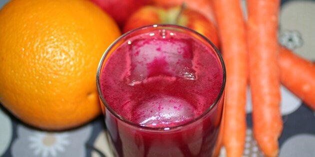Slow Juicer Opskrifter Gulerod : Juice med rodbede og gulerod