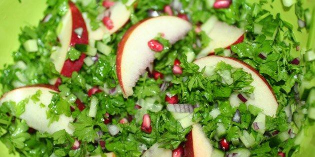 Salat Med Granatæble Og æble