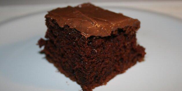 saftig chokoladekage