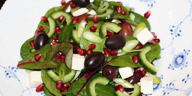 lækker salat med granatæble