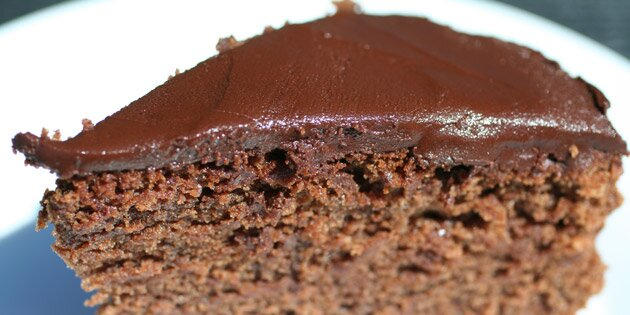 kage med chokoladecreme