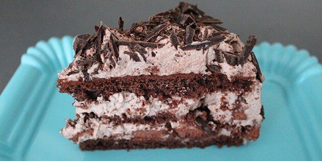 lagkage med chokolade