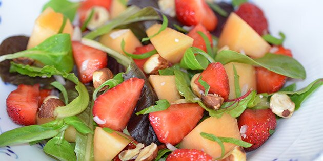melon salat opskrift