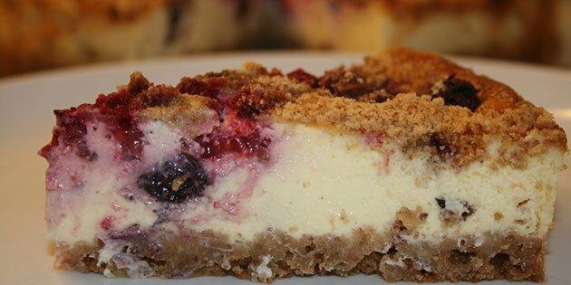 Cheesecake - lækker opskrift med Digestive kiks