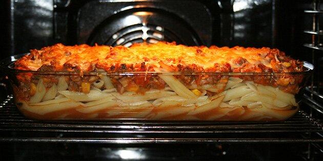 pastaret i ovn oksekød