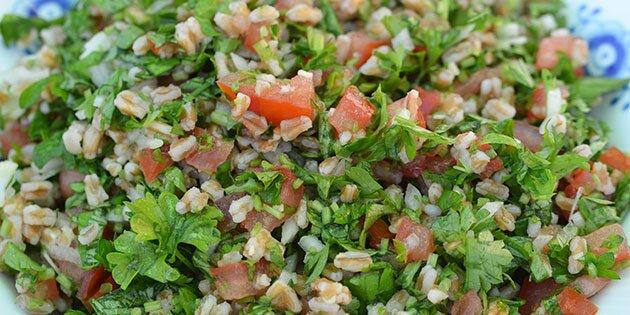 Salat Med Speltkerner