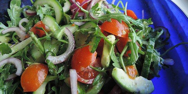 rucola salat opskrift