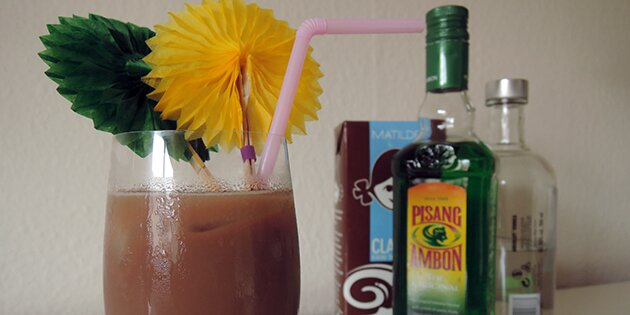 Skumbanan drink med vodka for Cocktail pisang