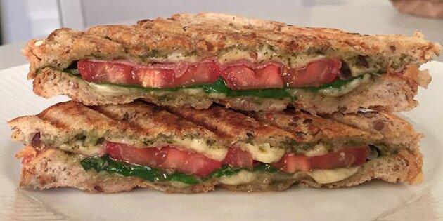 skinke og ost sandwich opskrift