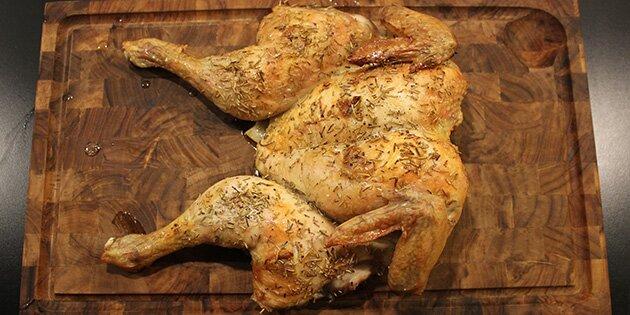 halv kylling i ovn