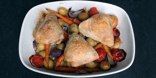 kyllingeoverlår i ovn tid