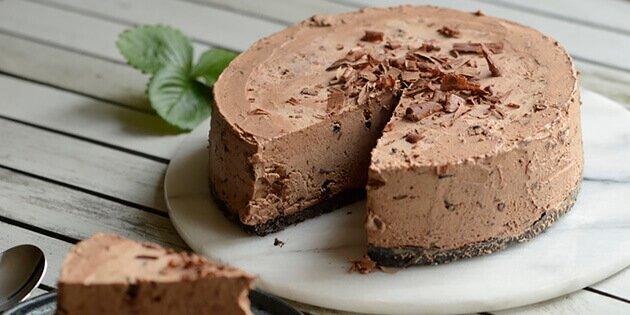 dessert med chokolade
