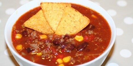 Chili con carne med majs