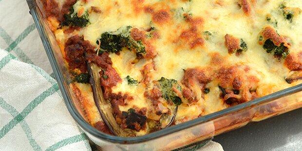 aubergine lasagne lchf